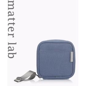 物質ラボブランMacBookの電源ポーチ - 静かなブルー