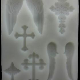 シリコンモールド 8種★クロス 十字架 ★キャンドル 粘土 石鹸 ハンドメイド
