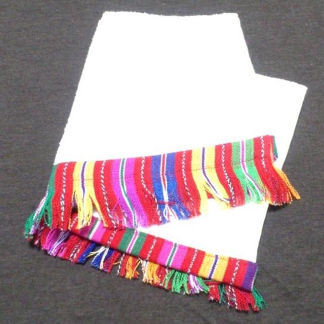 グァテマラの生地で装飾したハンドタオル
