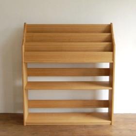 タモ材の絵本棚(ラージサイズ)W90