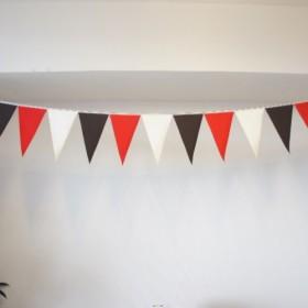 布ガーランド 290cm フラッグ 旗 結婚式 誕生日 パーティー キャンプ 飾り レッドブラウン