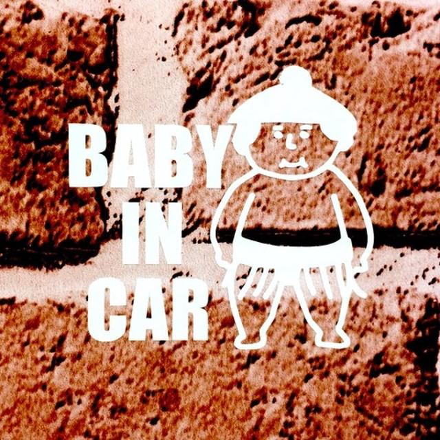BABY IN CAR おすもうさん ベビーステッカー キッズインカー