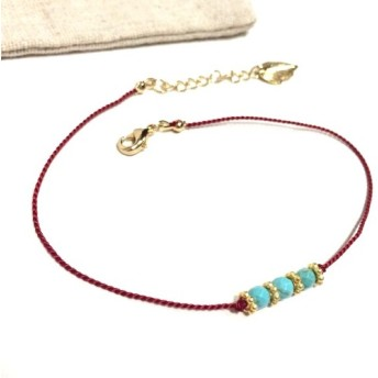 Anklet -3turquoise-