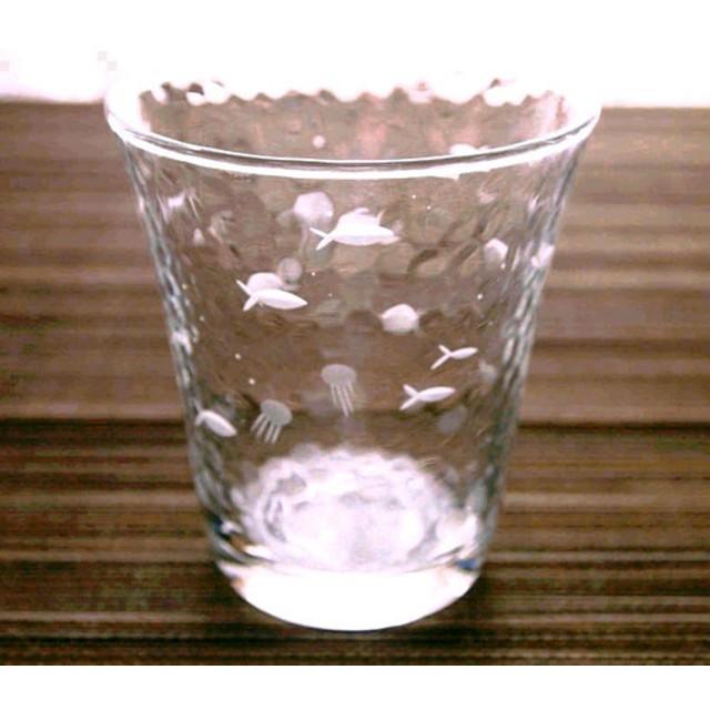 切子ガラス タンブラー 「さかなくらげ」