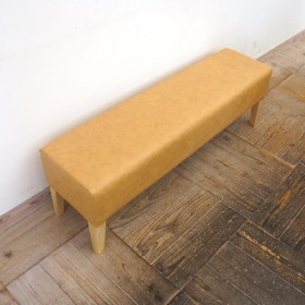 2 seater bench D300 ( NA × 合成皮革ベージュ Bランク )