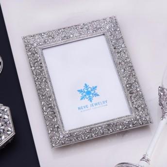 Neveのジュエリー花嫁糸古典的なフレーム(ホワイト/シルバー)