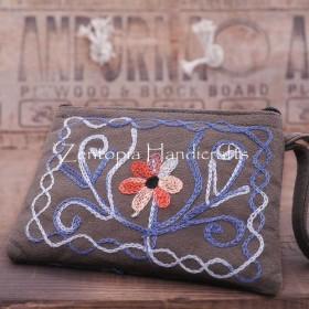 【Zentopia手工芸】刺繍革の財布/クラッチ/入場パッケージLHB510-GG