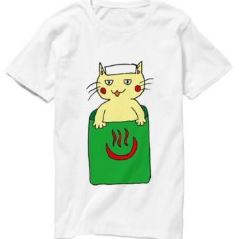 ネコ侍のお風呂Tシャツ