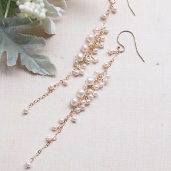 white flower #4(ピアス(14kgf)/イヤリング)