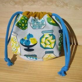 ◆SALE!30%OFF◆ぷっくりころころ まんまるボール巾着 北欧フルーツレモン