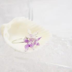 小さな紫陽花のリング