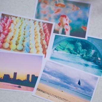 世界のポストカード5枚セット:ロンドン・スイス・フランス・東京