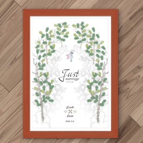 ウェルカムボード/ウェルカムツリー/ウエディング/結婚式/フクギ(木)並木(洋装タキシード)