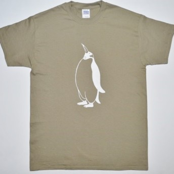 ペンギンTシャツ、penguin、オリーブ、送料無料、新品