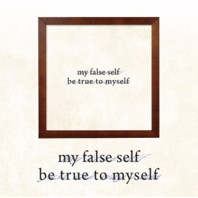ポスター『my true self. just the way i am.』L2フレーム付き(正方形配置) 点字ポスター