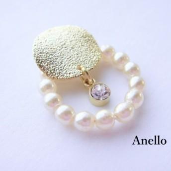 twinkle moon × pearl ring pierce