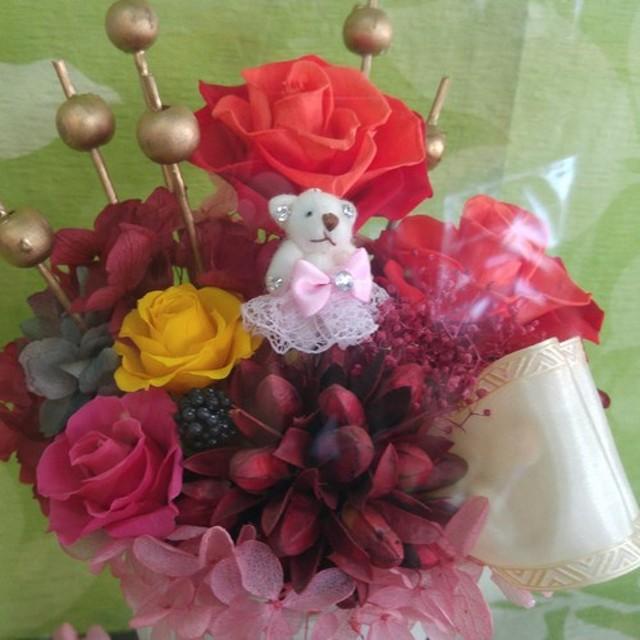 薔薇プリザーブドフラワーアレンジメント