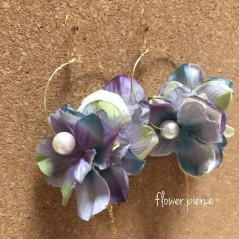 【大ぶりピアス】flower pierce