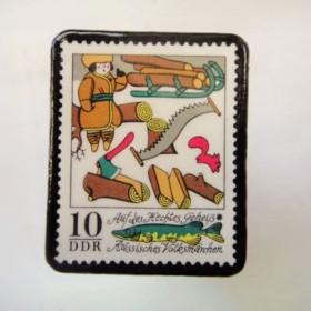 ドイツ 童話切手ブローチ 980