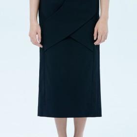 ブラックリボンジッパースタイルのドレスだけで数ヶ月fuyue