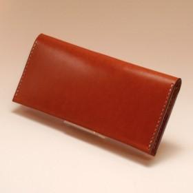 長いクリップ12カード日焼けした「KENTハンドメイドレザー ブラウン