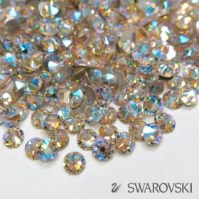 【スワロフスキー】ラインストーン・フラットバック シルクシマー 選べるサイズ(ss5・ss9・ss12)