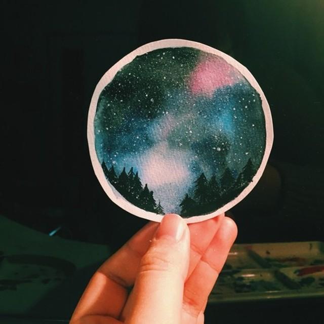 宇宙と月の絵【現品限り】