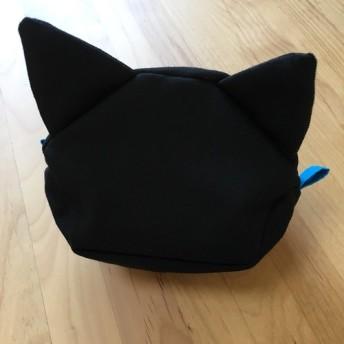 黒猫さんポーチ★ブルー
