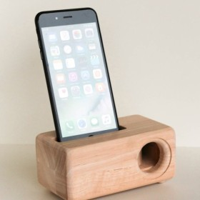 木製iPhone 6・6S・7Plus用スピーカーAcoustic iPhoneWoodSpeaker