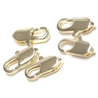 送料無料【30個】約10mm×4mmスリムなゴールド真鍮製カニカン