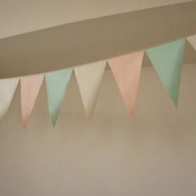 布ガーランド 290cn フラッグ 旗 結婚式 誕生日 パーティー キャンプ 飾り パステルグリーン