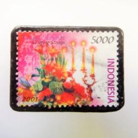 フィンランド クリスマス切手ブローチ1814