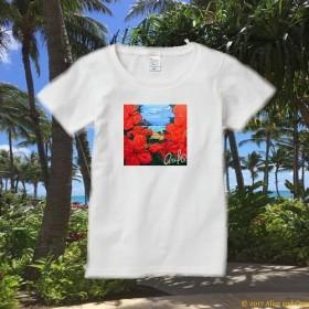 レディースTシャツ(Hibiscus)