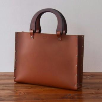 [国産牛本革]レザーバッグ NLW(ブラウン)SToLY Leather Bag/ストーリー レザーハンドバッグ