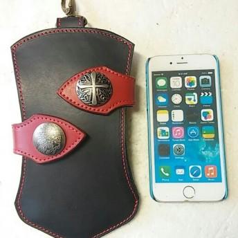 iphone7.8、GALAXYs6その他携帯にも左右出し入れオリジナルケース