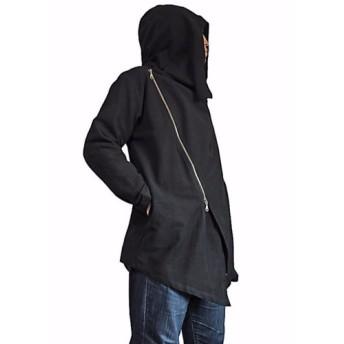 ジョムトン手織り綿ダブルジップのフーデッドコート(JFS-141-01)