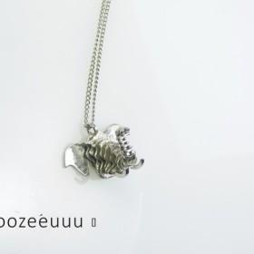 #1891ルナ会社925純銀製の象象のペンダントネックレス#の925silverの#elephant