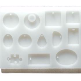 12種類のモチーフが作れるシリコンプレート 通し穴あき シリコン型 シリコンモールド レジン オルゴナイト エポキシ樹脂
