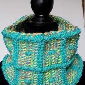 一点物 アフガン編みのスヌード