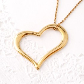 Heart necklace (gold plating)【受注生産】