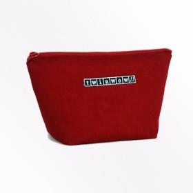 Twinwow - 親密なファッション - 繊細な質感のある化粧品バッグ - クラシックレッド