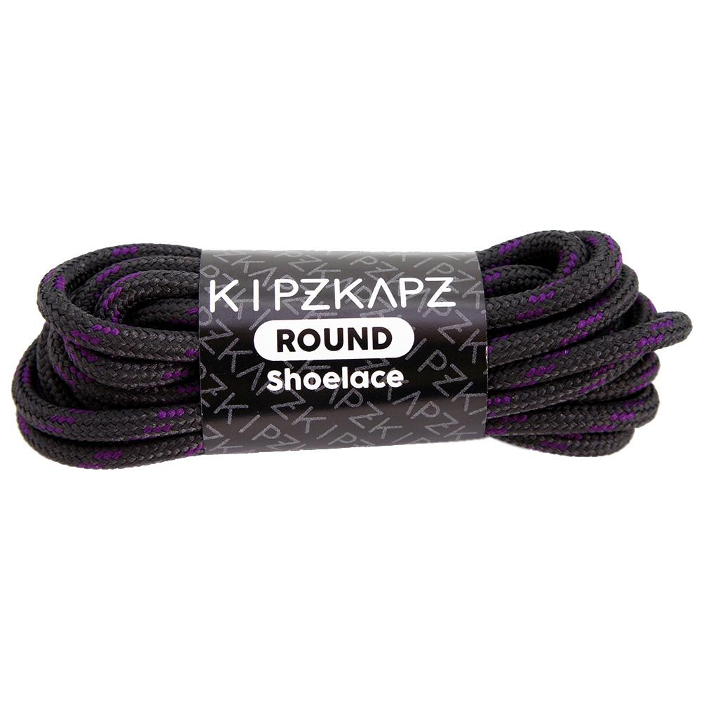 KipzKapz RS21 Dark Grey Purple 140cm / 160cm - Tali Sepatu Bulat / Round Shoelace