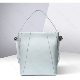 oversize paneled leather shoulder bag