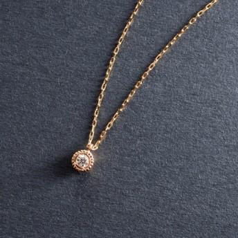 Verseau -Necklace- ◇K18PG×Diamond 0.03ct