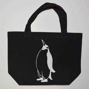 ペンギントートバッグ、黒、送料無料、penguin, キャンバス地