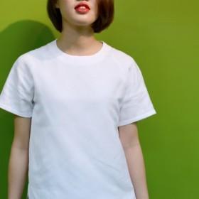 ラクラン袖白シャツ