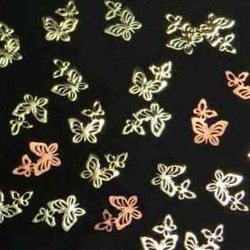 メタルパーツ 仲良し蝶々(ゴールド30枚セット) ★レジン&ネイルに使える封入素材