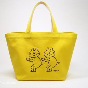 黄色のチビねこトートバッグ_02