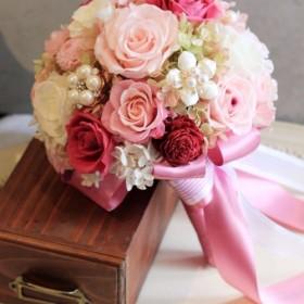 副報道官子供] [ ARIELの花束のジュエリー/アマランスピンクの桜の花/春
