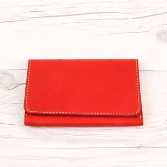 カードケース RED 栃木レザー 本革 04